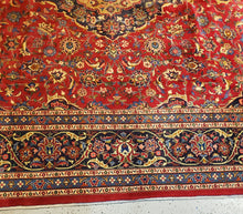 Load image into Gallery viewer, Persian Mashad Carpet, Semi Antique Rug Circa 1950s