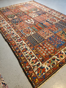 Persian Bahktiari Rug  Antique Rug Circa 1930s