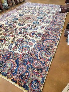 Kirman Rug, Kerman Rug, Antique Rug, XL Carpet