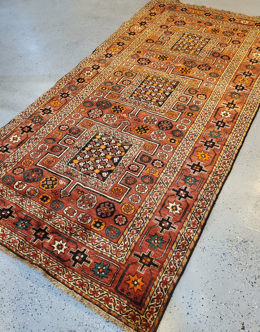 This is a top left side angled view of the Qashqai HandKnotted Area Rug