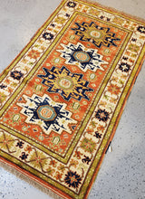 Load image into Gallery viewer, This is a full view of a Turkisk Hand-Knotted Rug