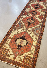 Load image into Gallery viewer, Hamadan Rug, Vintage Rug, Rug Runner, Pictorial Carpet