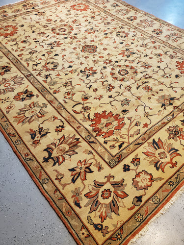 Turkish Sultanabad Rug, Handknotted Rug,