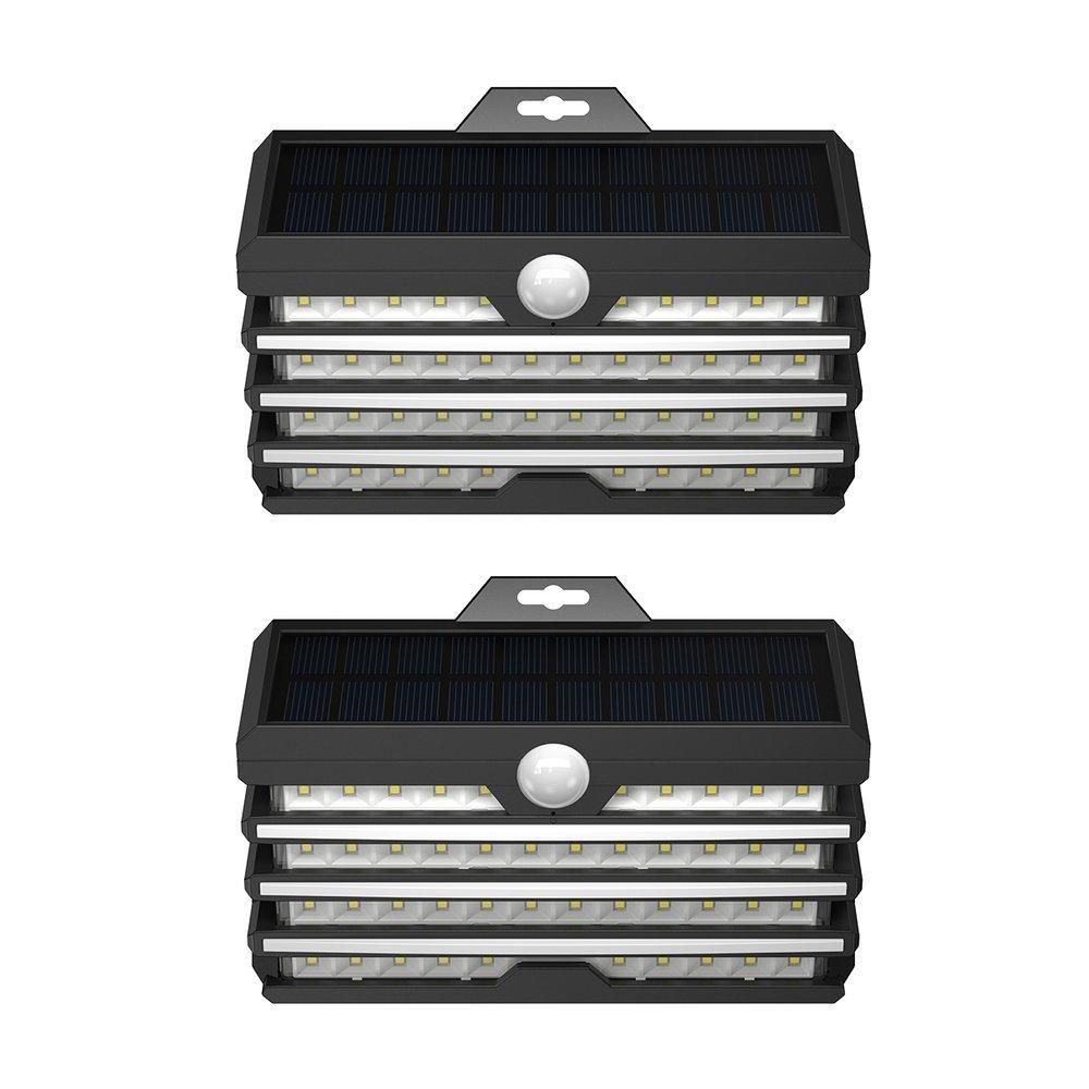 Baseus 2x outdoor garden solar street LED lamp with a motion sensor black (DGNEN-D01)-nutielu.ee
