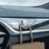 Baseus Beetle 2x self-adhesive car vehicle and home hanger vehicle hook holder silver (ACGGJK-0S)-nutielu.ee