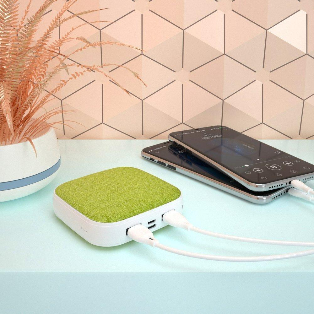 Dudao Power Bank portable charger 10000mAh 2x USB 2A brown (K6A brown)-nutielu.ee