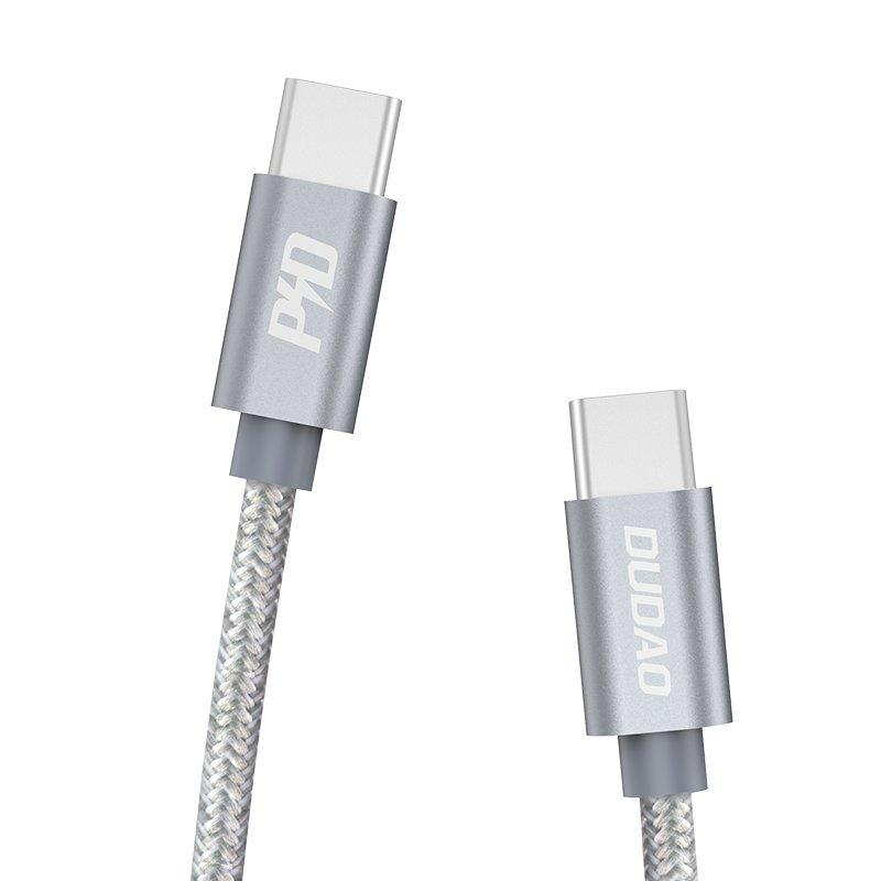 Dudao USB Type C - USB Type C cable 5 A 45 W 1 m Power Delivery Quick Charge gray (L5ProC)-nutielu.ee