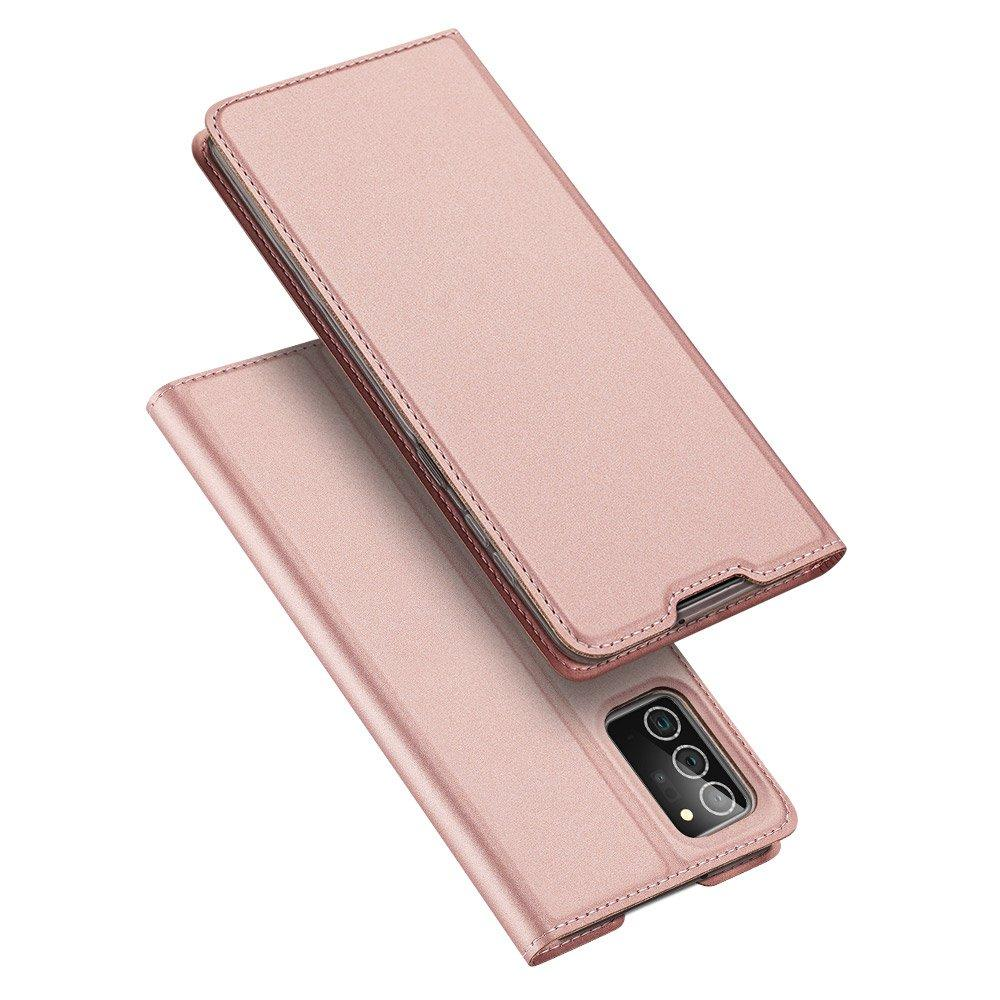 DUX DUCIS Skin Pro Bookcase type case for Samsung Galaxy Note 20 pink-nutielu.ee