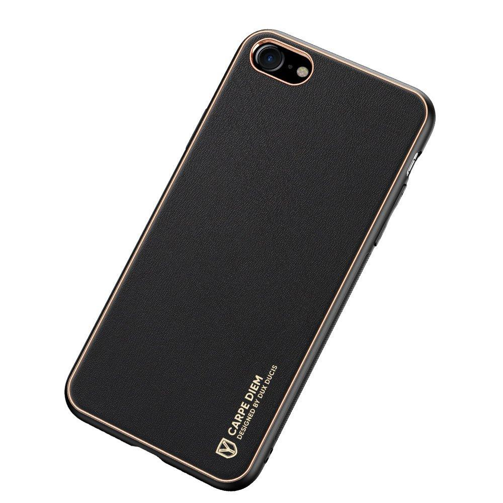 Dux Ducis Yolo elegant case made of soft TPU and PU leather for iPhone SE 2020 / iPhone 8 / iPhone 7 black-nutielu.ee