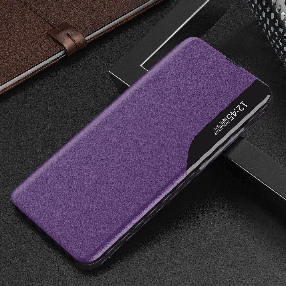 Eco Leather View Case elegant bookcase type case with kickstand for Samsung Galaxy A70 purple-nutielu.ee