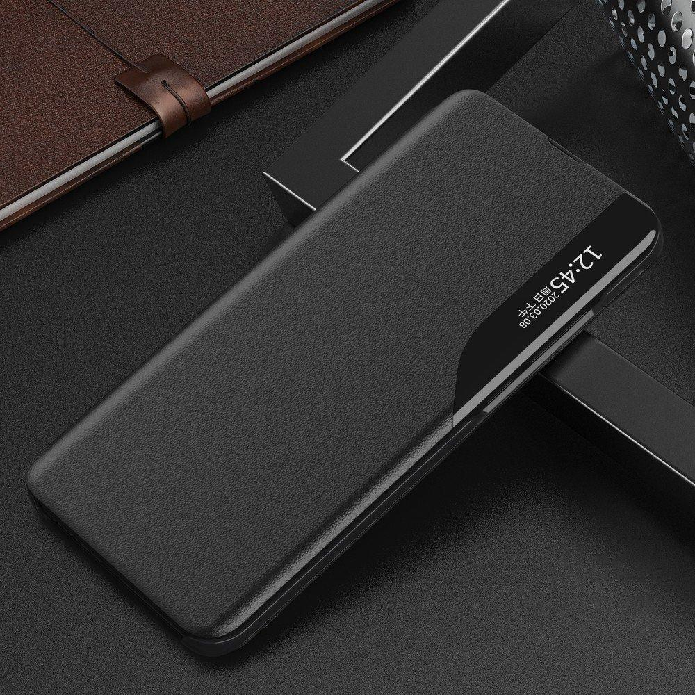 Eco Leather View Case elegant bookcase type case with kickstand for Samsung Galaxy S10+ (S10 Plus) black-nutielu.ee