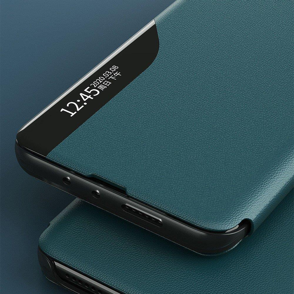 Eco Leather View Case elegant bookcase type case with kickstand for Samsung Galaxy S20 black-nutielu.ee