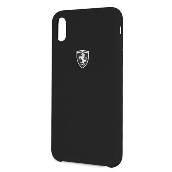 Ferrari Tagakaas iPhone Xs Max Must Silicone Off track-nutielu.ee