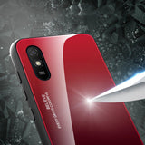 Gradient Glass Durable Cover with Tempered Glass Back Xiaomi Redmi 9A pink-nutielu.ee
