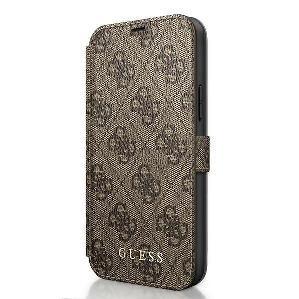 Guess GUFLBKSP12M4GB iPhone 12 Pro / iPhone 12 brązowy/brown book 4G Charms Collection-nutielu.ee
