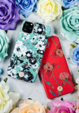 Kingxbar Blossom case decorated with original Swarovski crystals iPhone 11 multicolour (Orchid)-nutielu.ee