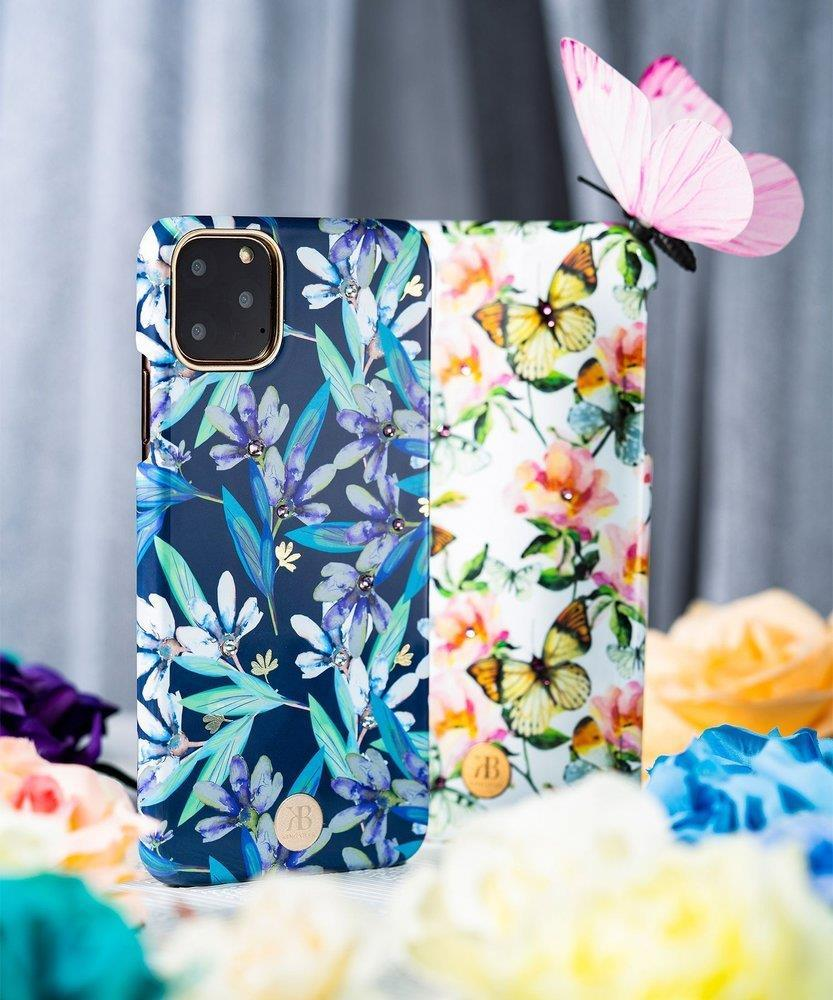 Kingxbar Blossom case decorated with original Swarovski crystals iPhone 11 Pro multicolour (Leaf)-nutielu.ee