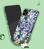 Kingxbar Blossom case decorated with original Swarovski crystals iPhone 11 Pro multicolour (Lily)-nutielu.ee