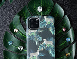 Kingxbar Forest glowing in the dark case decorated with original Swarovski crystals iPhone 11 multicolour (Tiger)-nutielu.ee