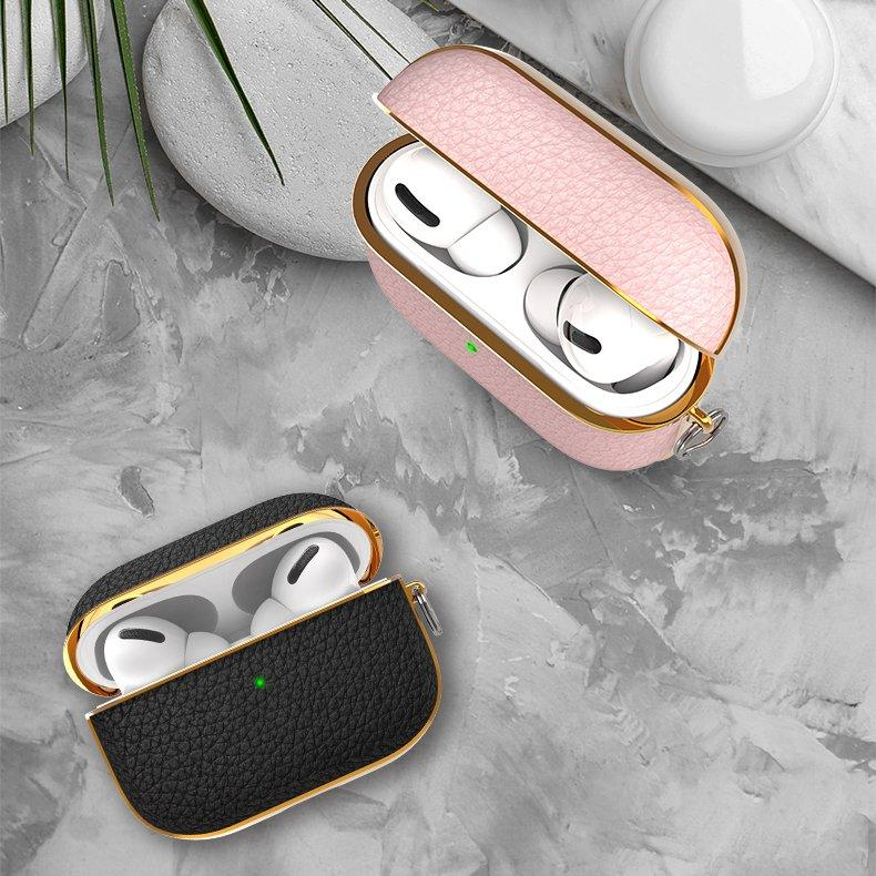 Kingxbar Leather case Protector for AirPods AirPods Pro blue-nutielu.ee