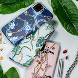 Kingxbar Luxury Swarovski Crystals Tagakaas iPhone 11 Roosa-nutielu.ee