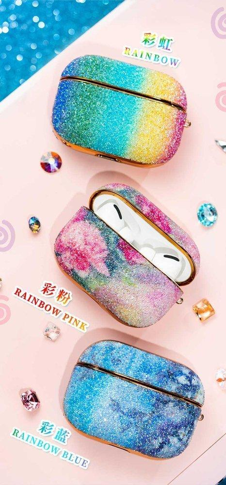 Kingxbar Rainbow shiny glitter case Protector for AirPods AirPods Pro blue-nutielu.ee