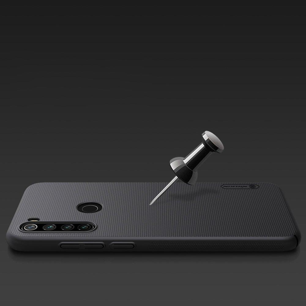 Nillkin Super Frosted Shield Case + kickstand for Xiaomi Redmi Note 8T black-nutielu.ee
