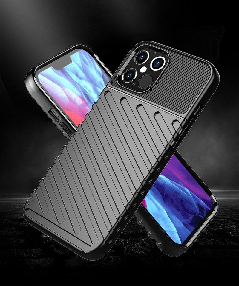 Thunder Case Flexible Tough Rugged Cover TPU Case for iPhone 12 Pro Max black-nutielu.ee