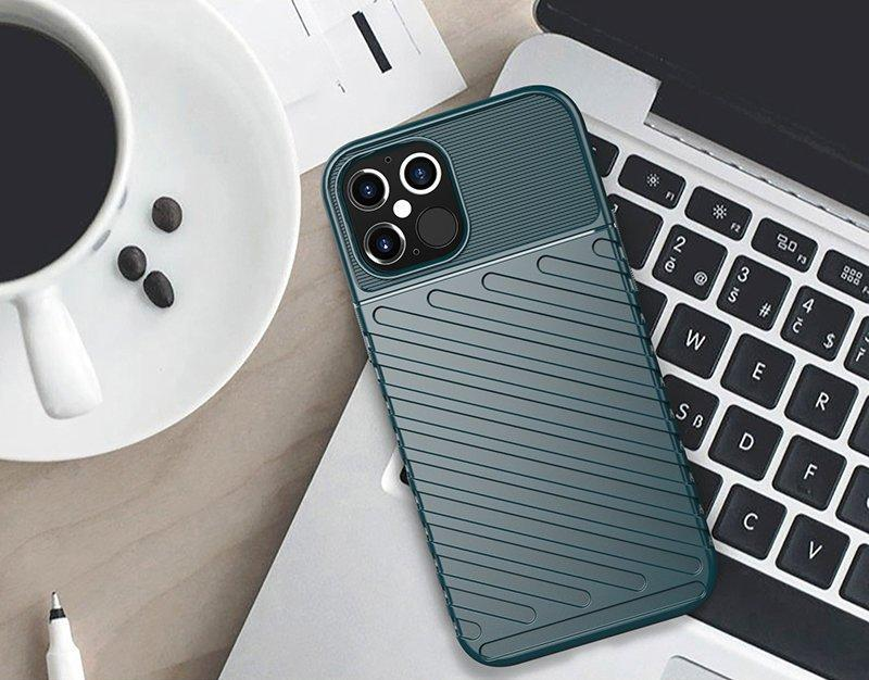 Thunder Case Flexible Tough Rugged Cover TPU Case for iPhone 12 Pro Max green-nutielu.ee