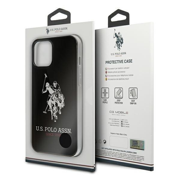 US Polo USHCP12MTPUHRBK iPhone 12 Pro / iPhone 12 /black Shiny Big Logo-nutielu.ee