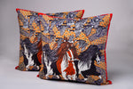 Luxury Velvet Cushion Barnacle Geese & Irish Cobs