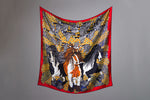 Barnacle Geese & Irish Cobs 90cm Square Silk Scarf