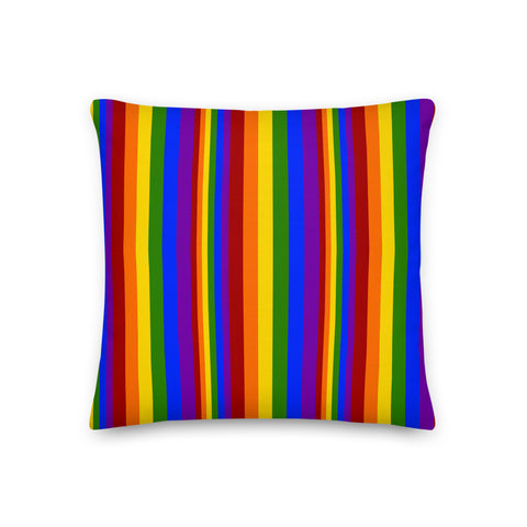 Rainbow Stripe Throw Pillow - Shabaca Designs