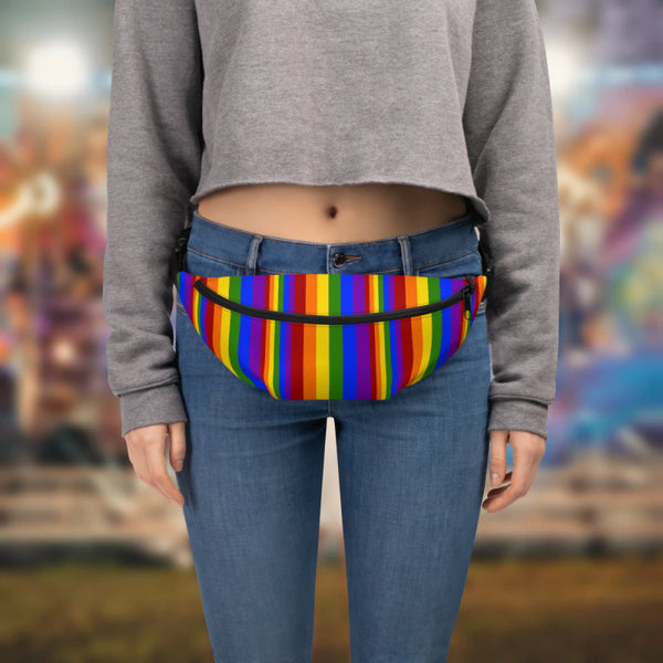 Rainbow Stripe Belt Bag - Shabaca Designs