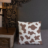 Cow Print Throw Pillow - Shabaca Designs