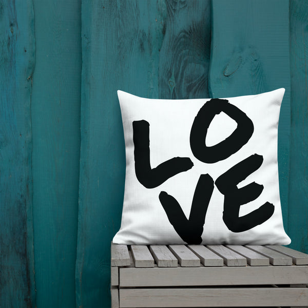 LOVE Throw Pillow - Shabaca Designs