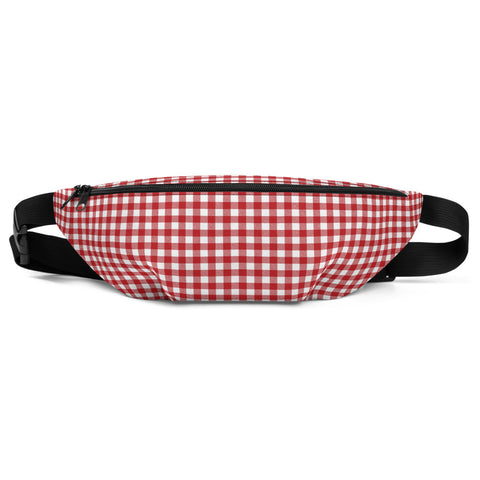 Red Gingham Belt Bag - Shabaca Designs