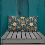 Vintage Octopus Throw Pillow - Shabaca Designs