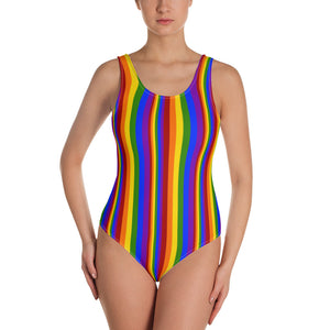 Rainbow Stripe Swimsuit - Shabaca Designs