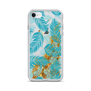 Palm Village Liquid Glitter iPhone Case - Shabaca Designs