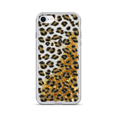 Lovely Leopard Liquid Glitter iPhone Case - Shabaca Designs