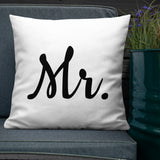 Mr. Throw Pillow - Shabaca Designs