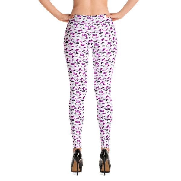 Girly Skulls Leggings - Shabaca Designs