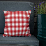 Red Gingham Throw Pillow - Shabaca Designs
