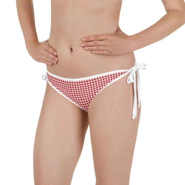Red Gingham Reversible Bikini Bottom - Shabaca Designs