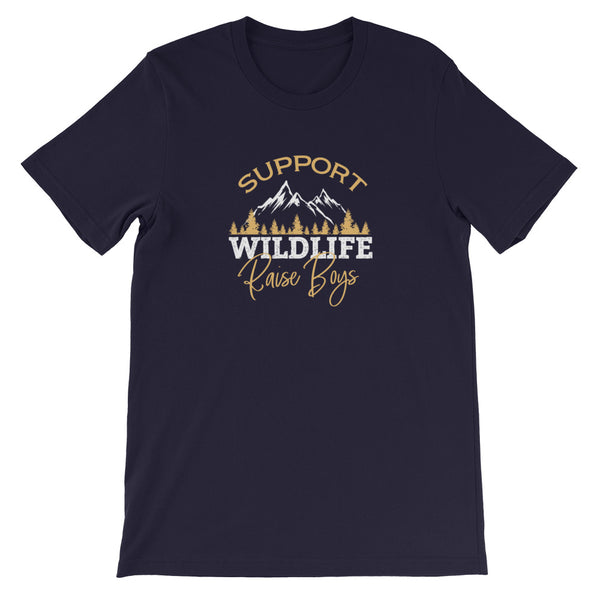 Support Wildlife Raise Boys T-Shirt - Shabaca Designs