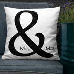 Mr. & Mrs. Throw Pillow - Shabaca Designs