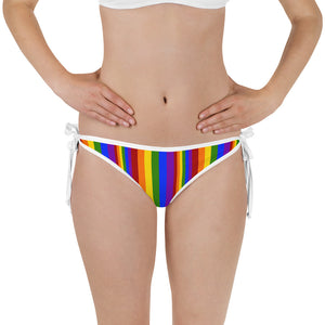 Rainbow Stripe Reversible Bikini Bottom - Shabaca Designs