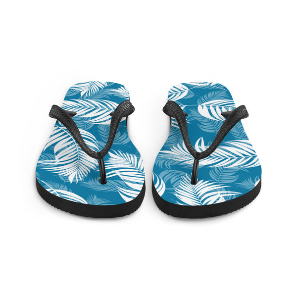 Palm Village Blue Flip Flops - Shabaca Designs