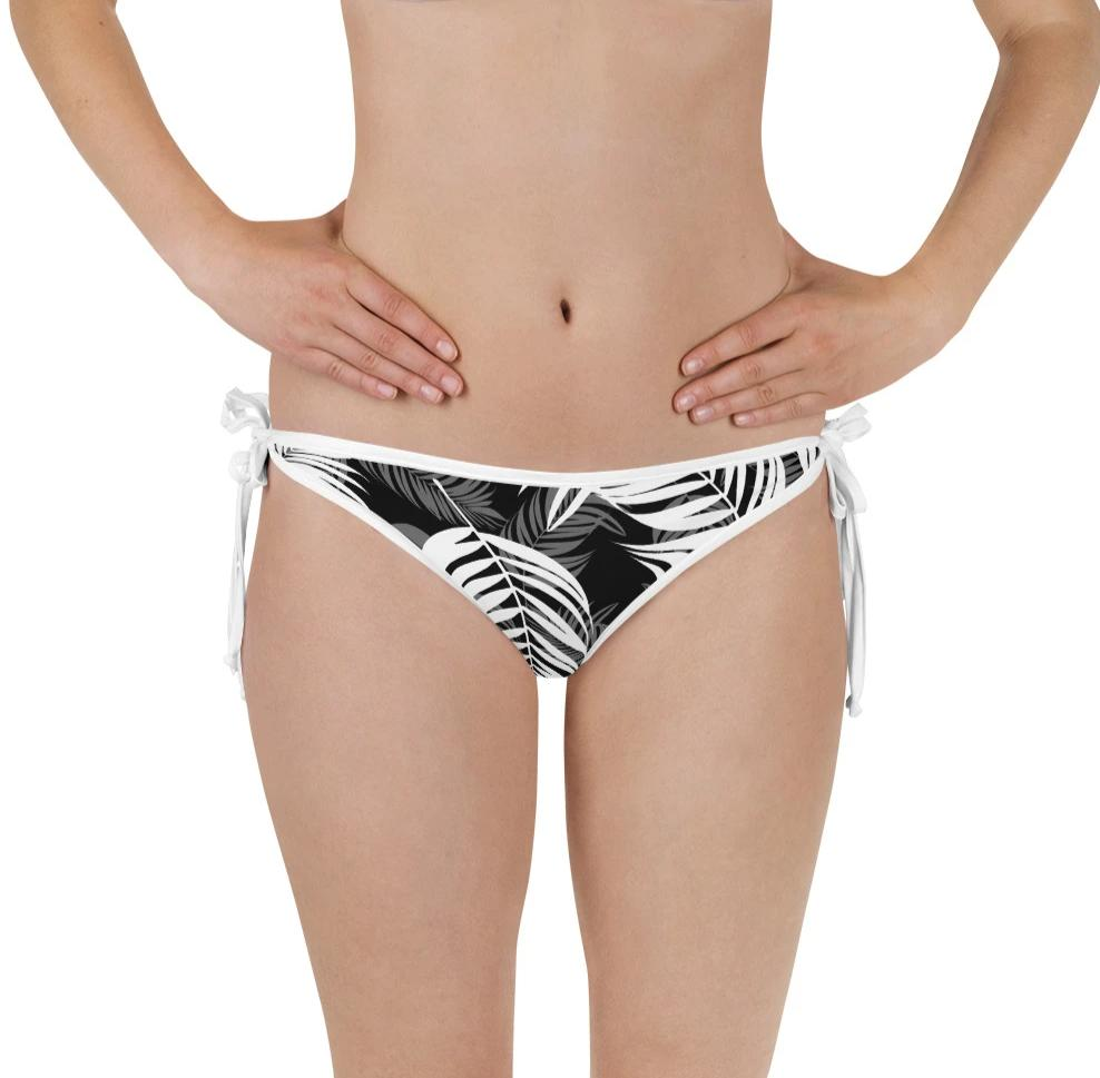 Palm Village Reversible Bikini Bottom - Shabaca Designs